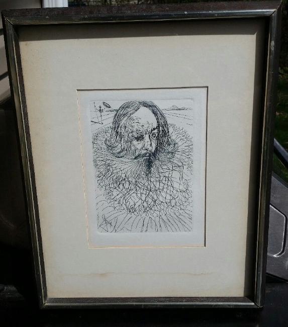 Salvador Dali Original Etching