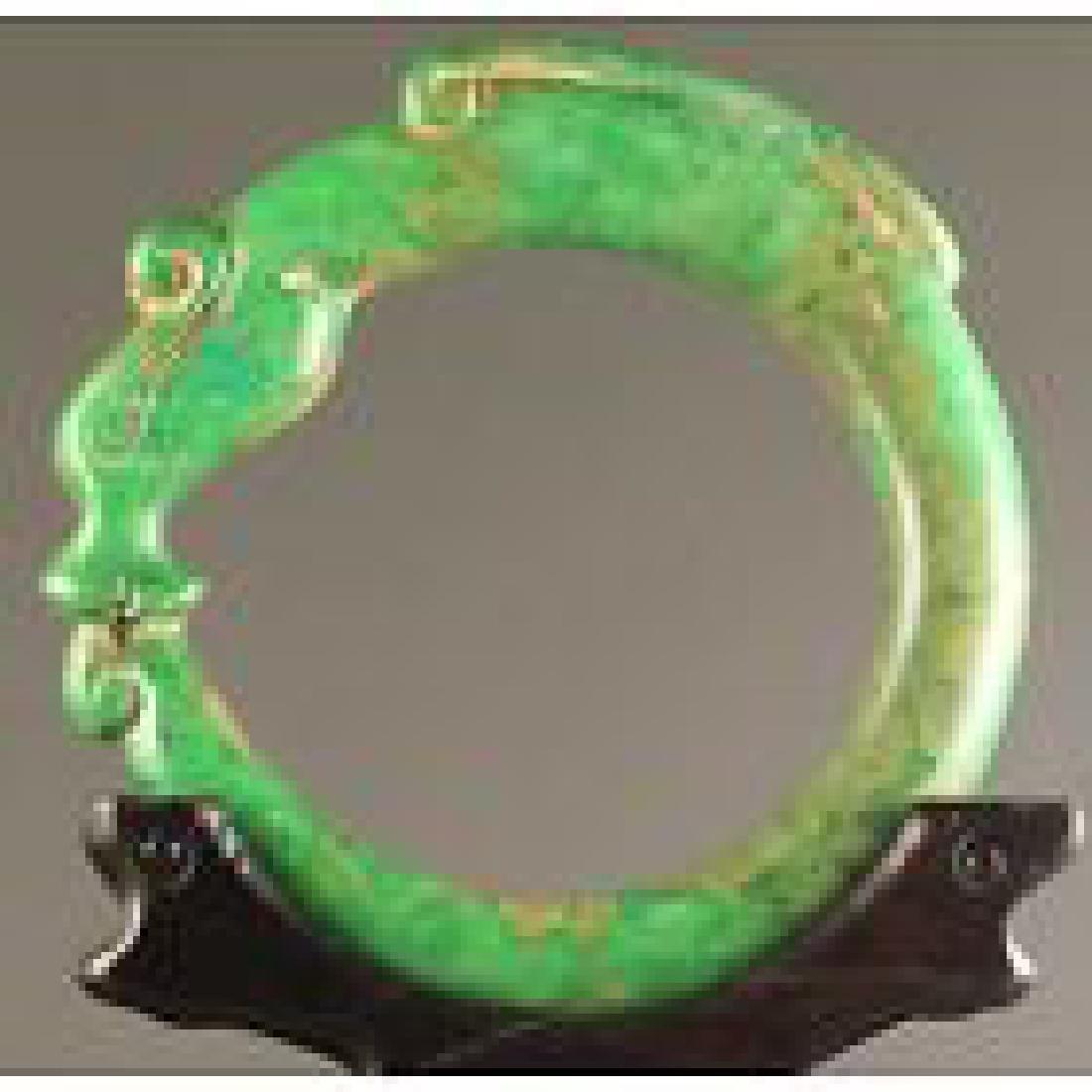 China old jade bracelet hand carved  dragon bangle