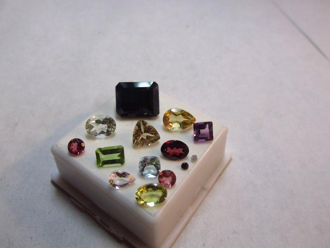 Lot of 14 Natural Mixed Faceted Gemstone