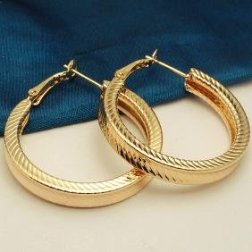 Gold Plated Gold Color Earrings