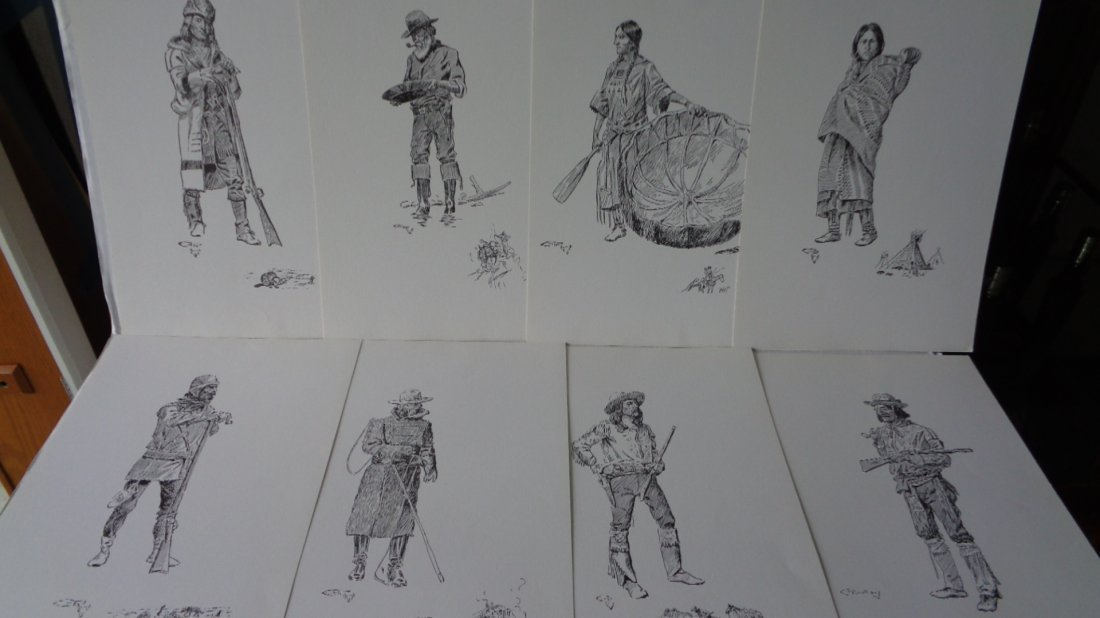 Charles Marion Russell (1864-1926). 15 famous sketches