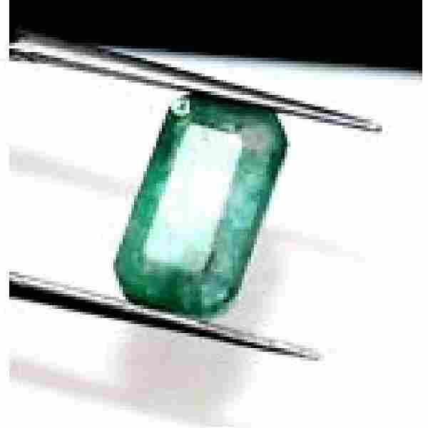 GGL Certified 3.30 Ct ~Natural Emerald Cut Muzo Emerald