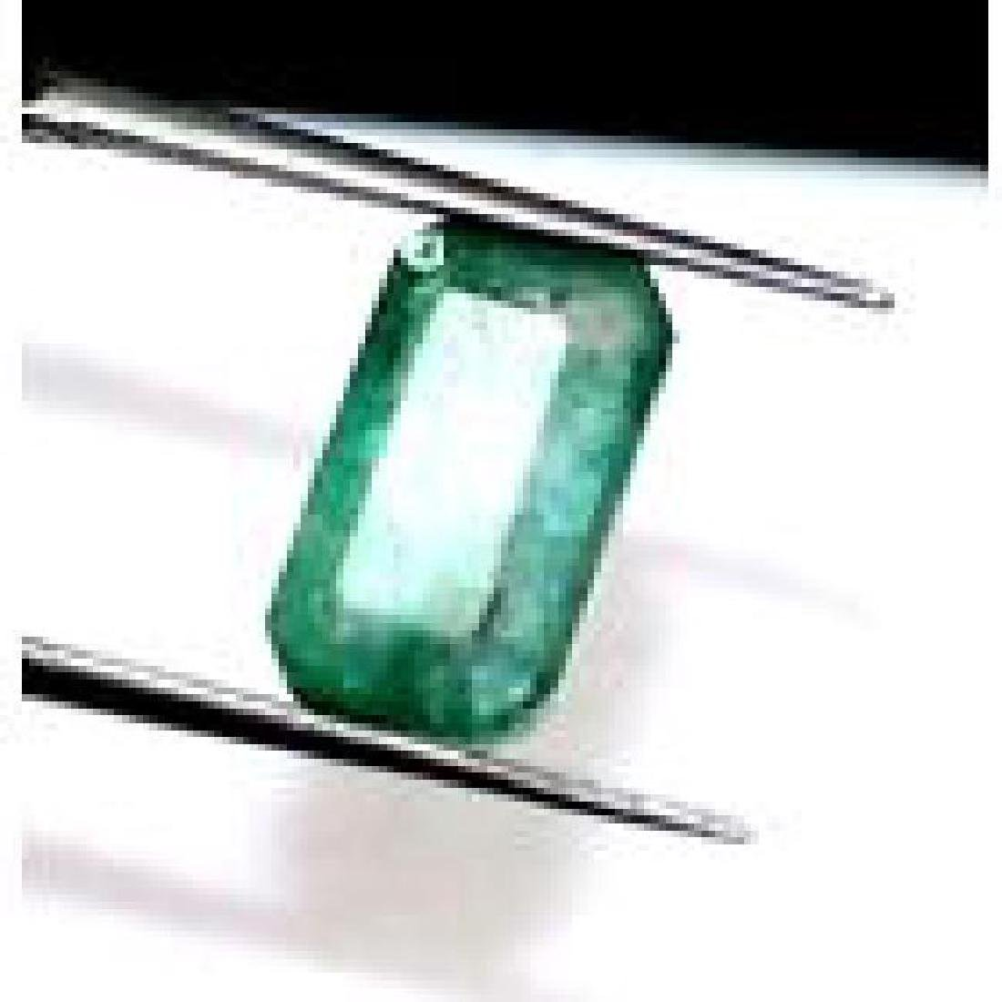 GGL Certified 3.30 Ct ~Natural Emerald Cut Muzo Emerald