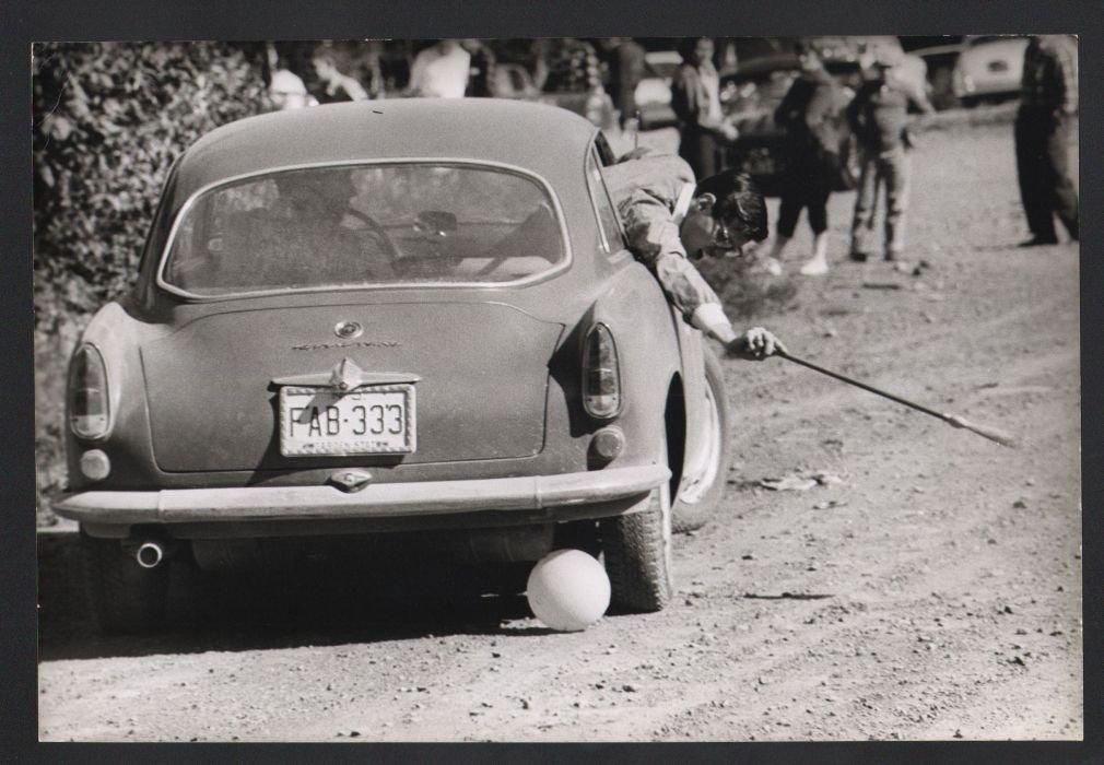 B&W VTG 1960s ALFA ROMEO Auto Polo Match Photo