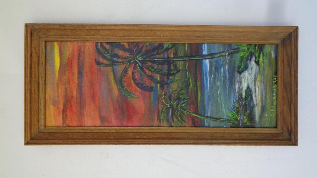 Original Florida Landscaping Painting Signed - 2
