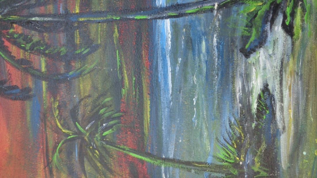 Original Florida Landscaping Painting Signed - 3
