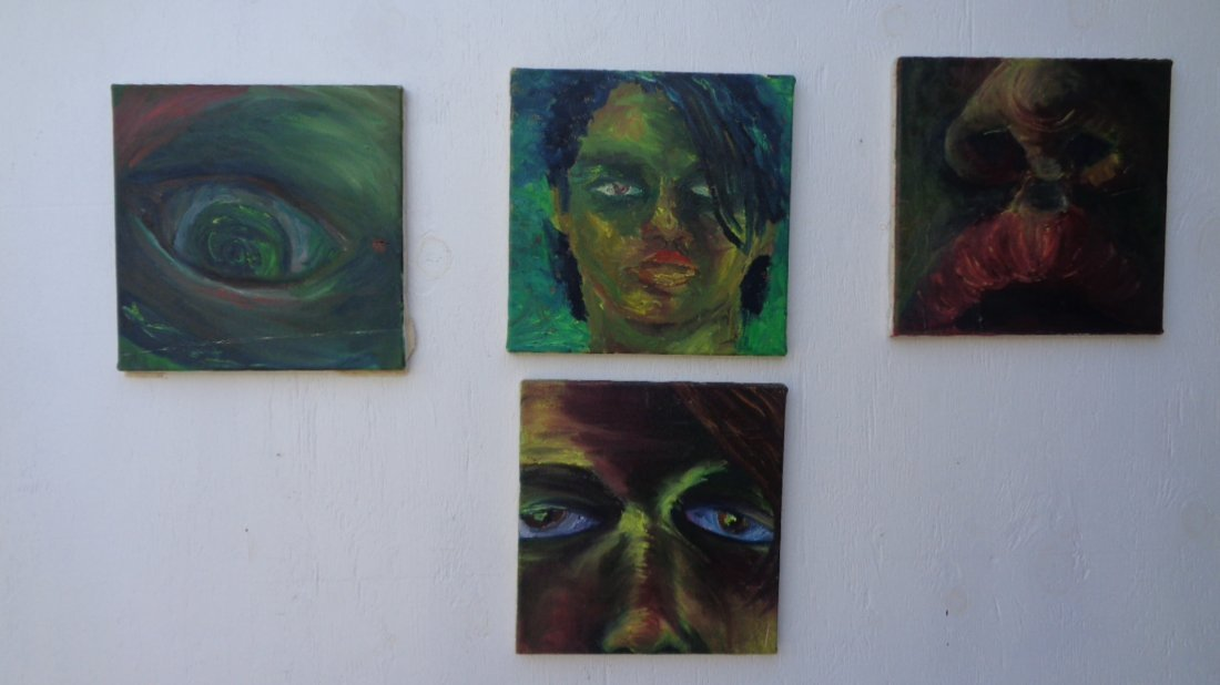 Lot of 4 Original Oil Painting on Canvas
