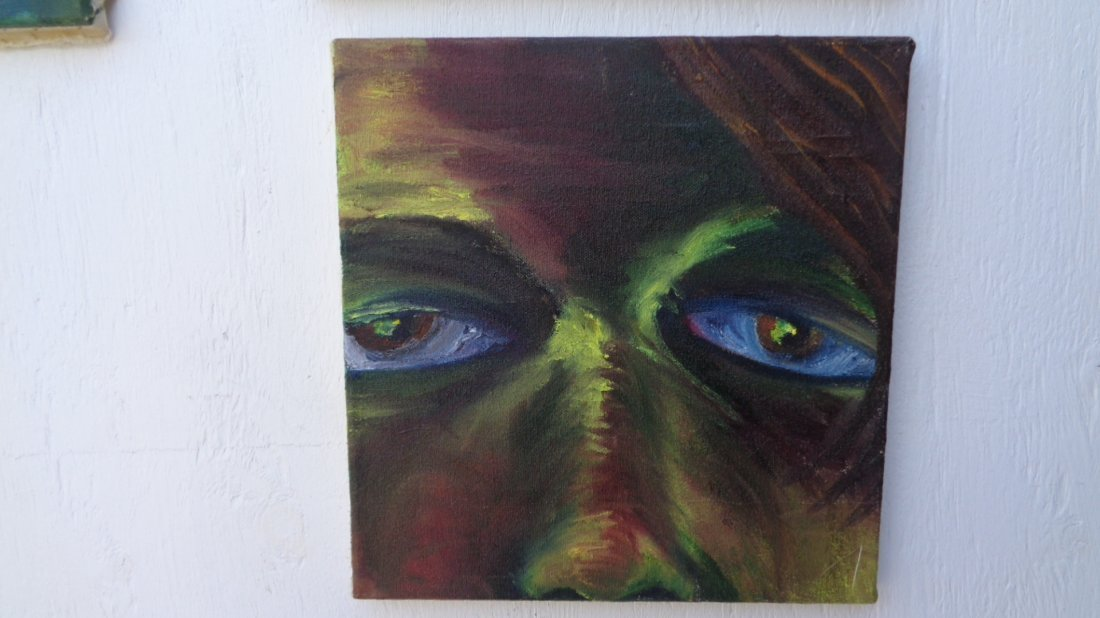 Lot of 4 Original Oil Painting on Canvas - 2