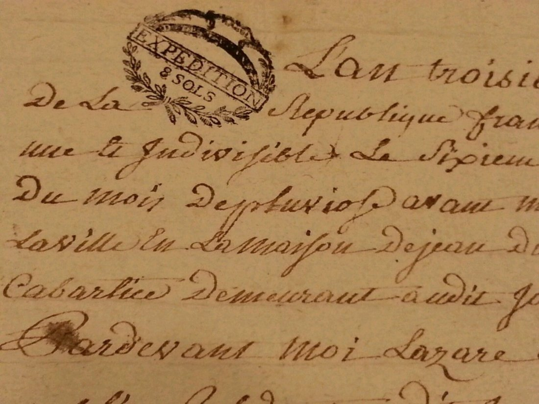 Antique 1795 Notary Document- 8 Pages - 3