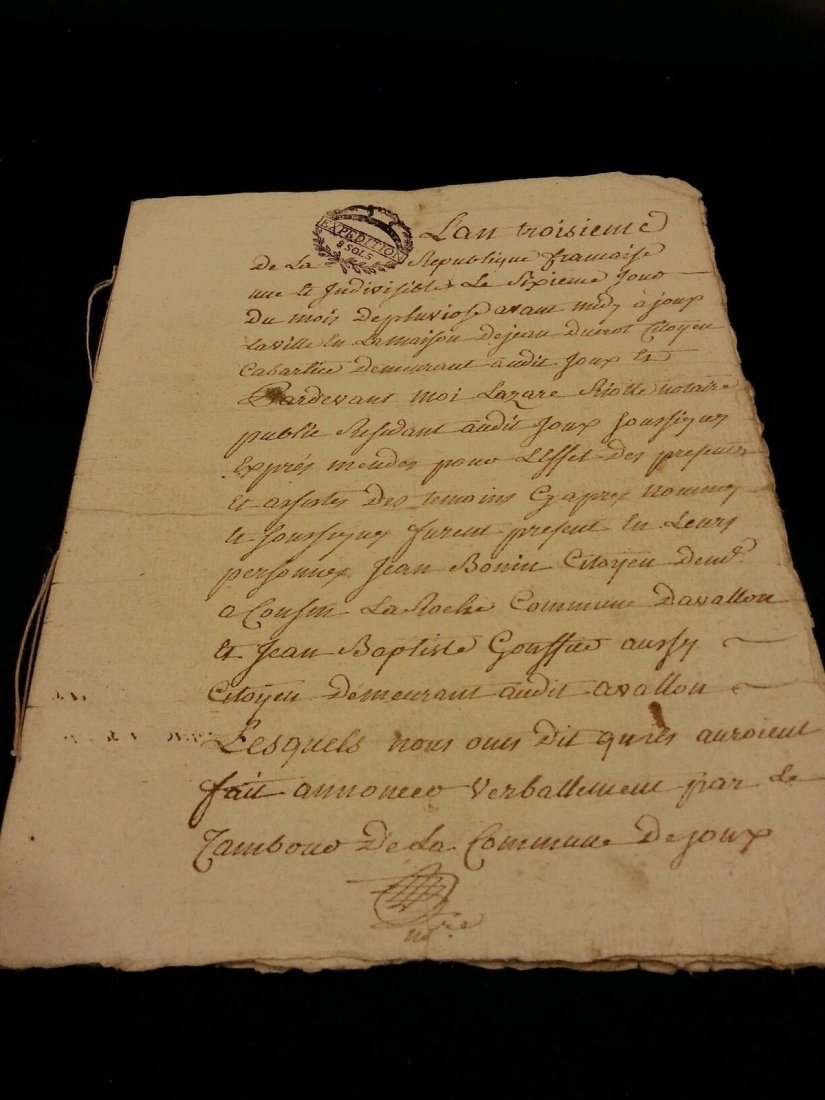Antique 1795 Notary Document- 8 Pages - 4