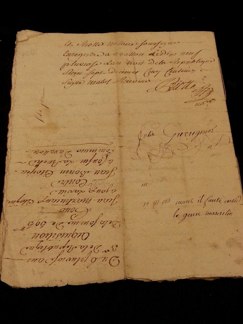 Antique 1795 Notary Document- 8 Pages - 5