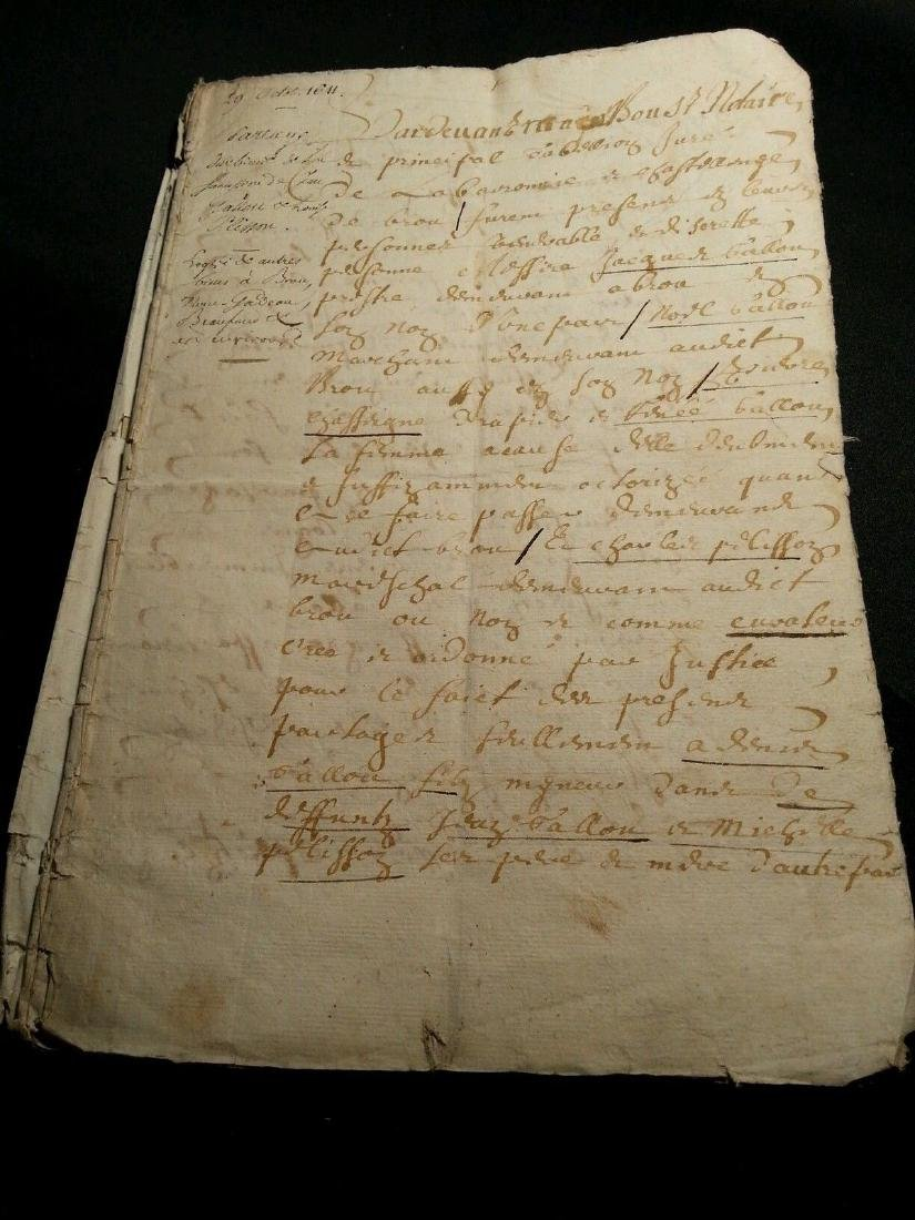 1611 - 34 Pages Antique French Document - 10