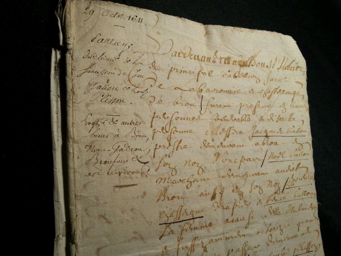 1611 - 34 Pages Antique French Document - 2