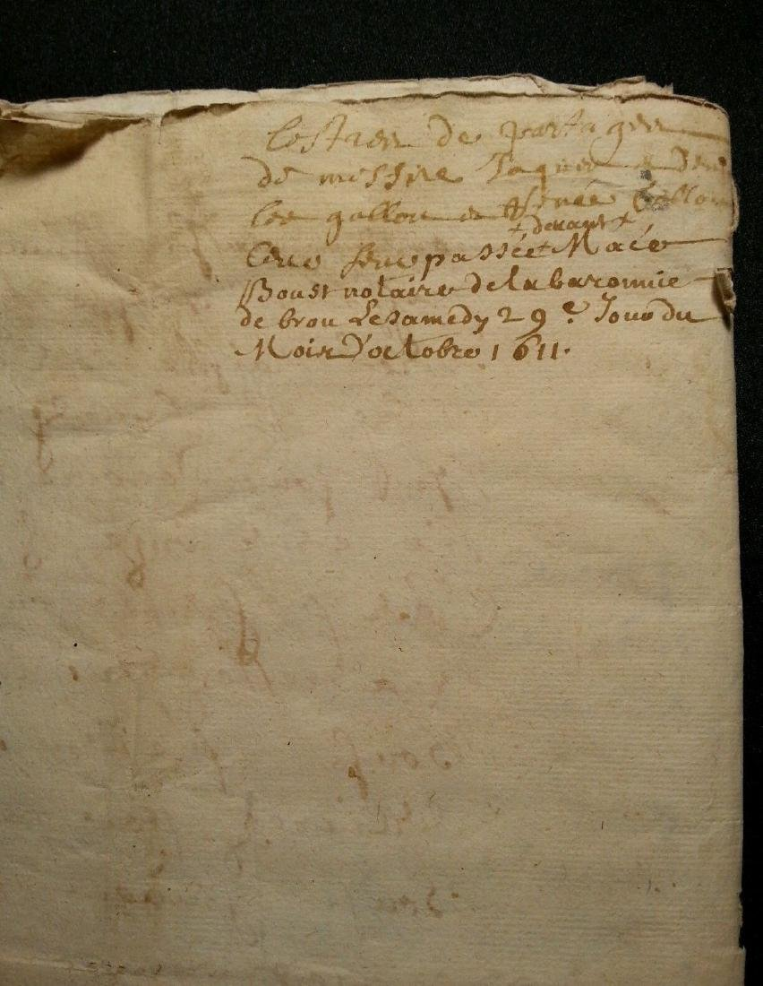 1611 - 34 Pages Antique French Document - 9