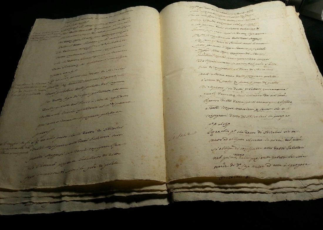 1746 Antique Italian 16 pages Documents - 2