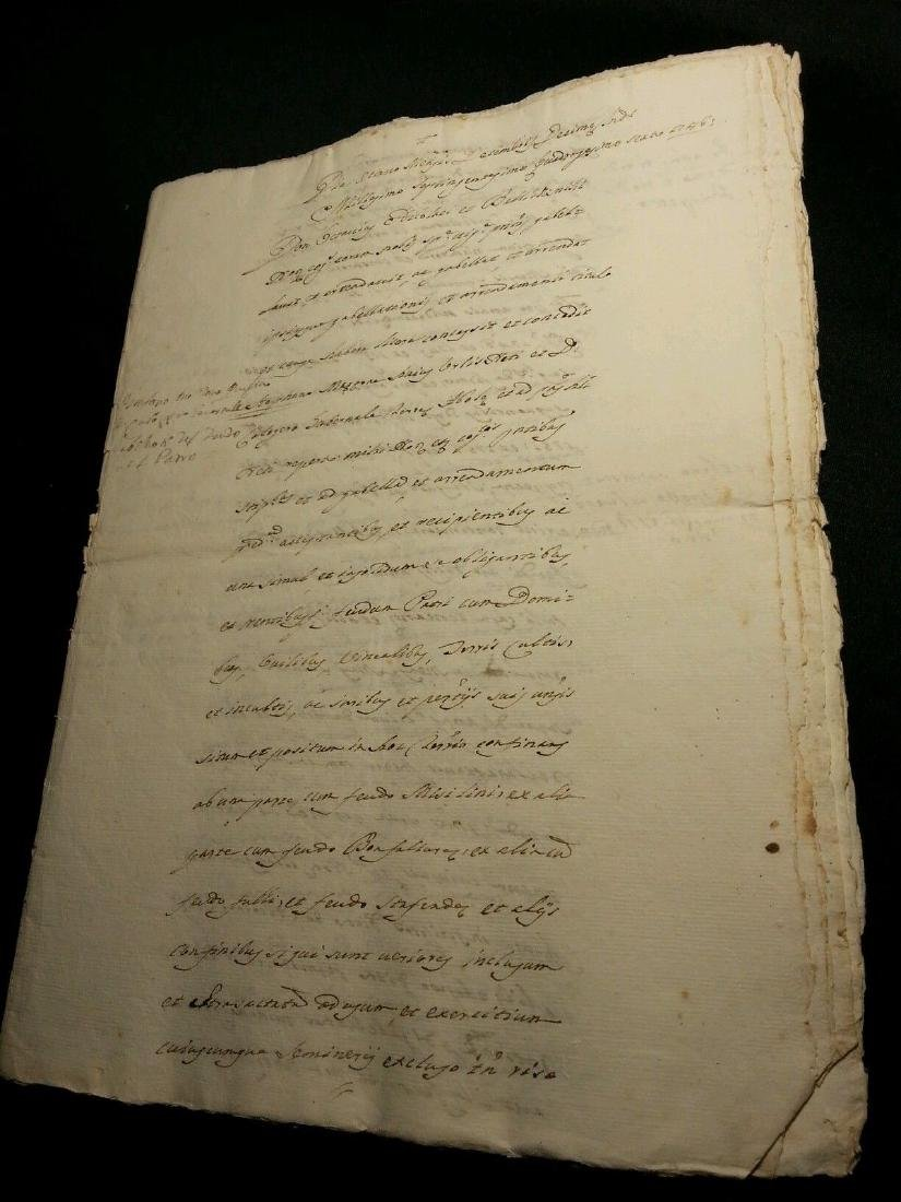 1746 Antique Italian 16 pages Documents - 4