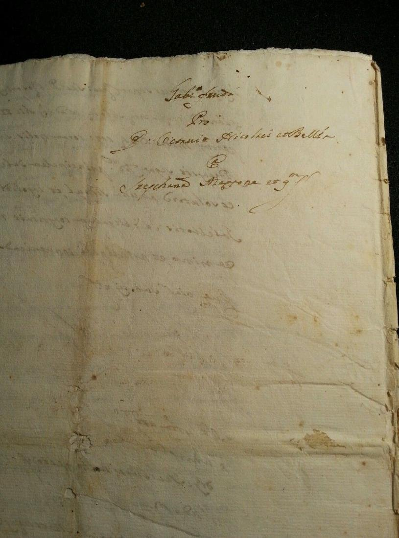 1746 Antique Italian 16 pages Documents - 5
