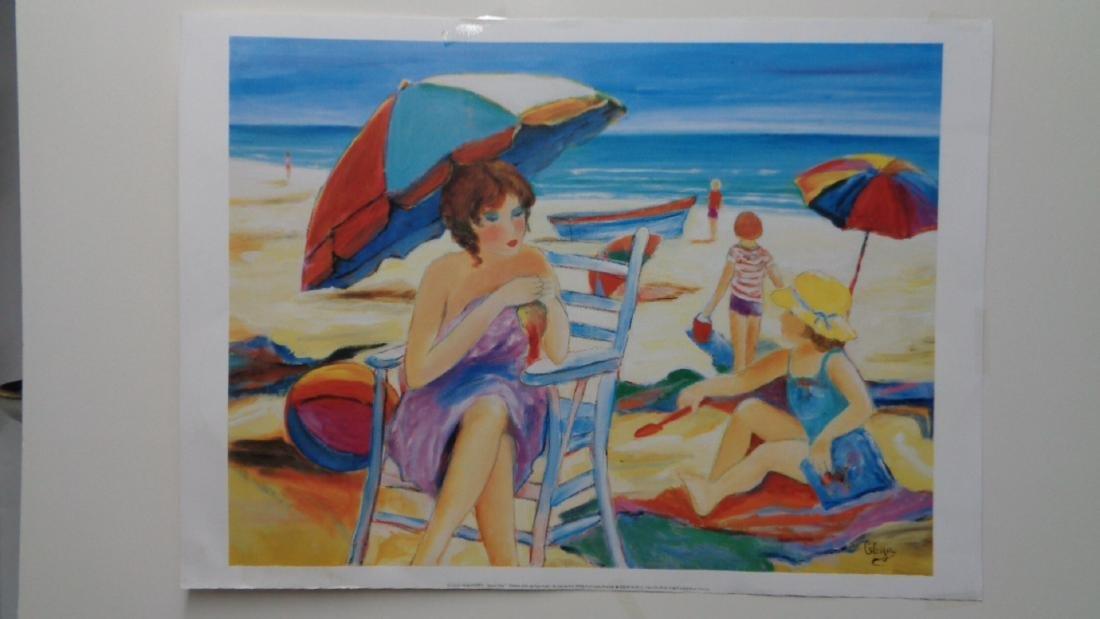 """Hilda Gleizer entitled """"Beach Day""""Imprime en France"""