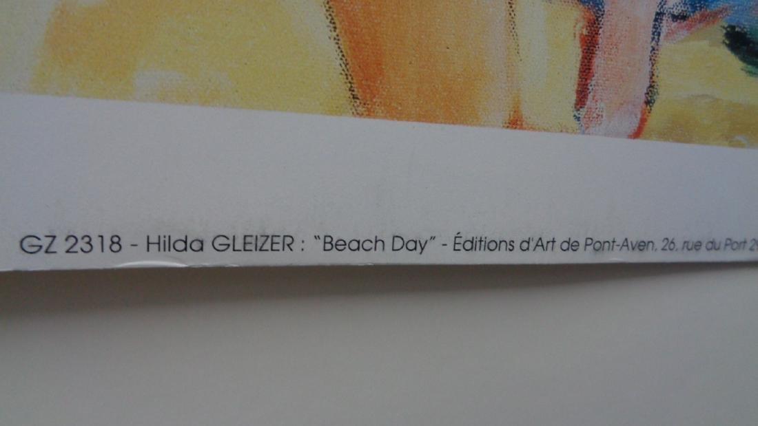 """Hilda Gleizer entitled """"Beach Day""""Imprime en France - 2"""