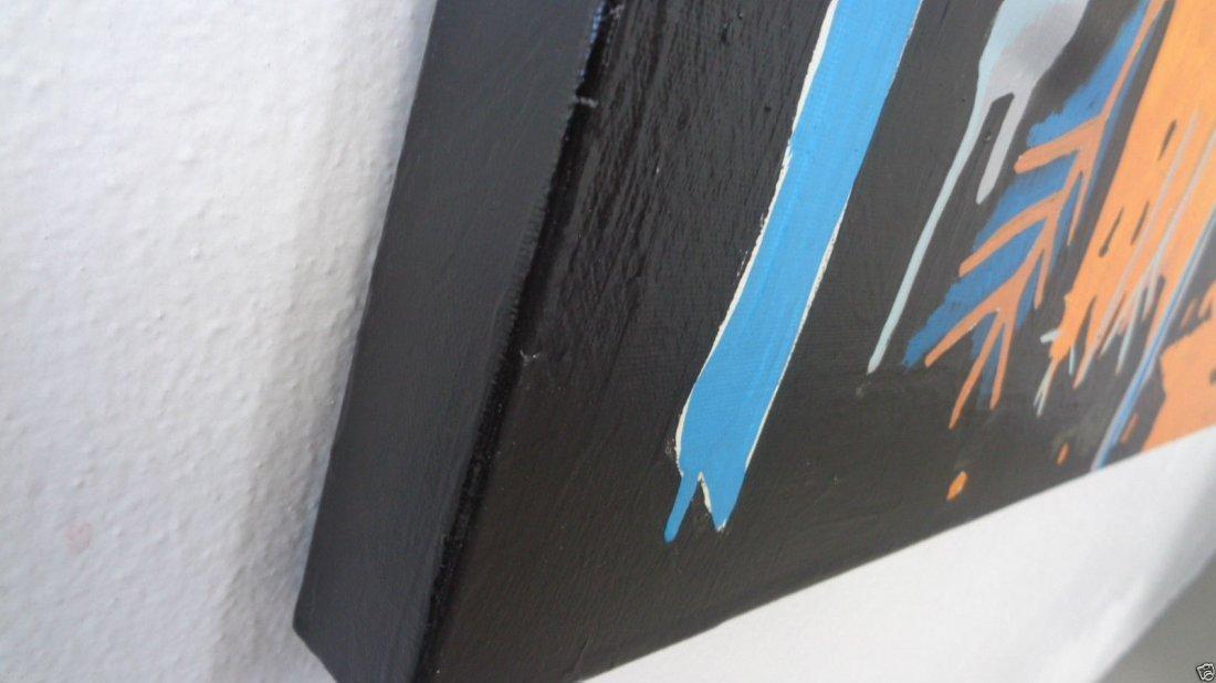 Original Street Art Painting on Canvas Basquiat N York - 3
