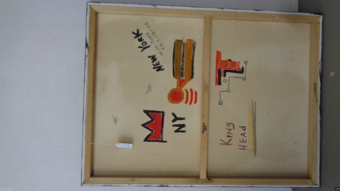 Original Street Art Painting on Canvas Basquiat N York - 4
