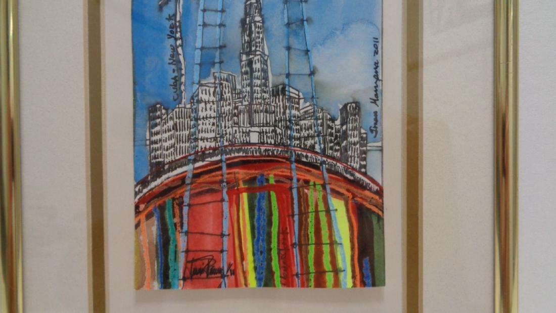 Original J Rivera - New York 2011 Painting Framed. Fra - 2