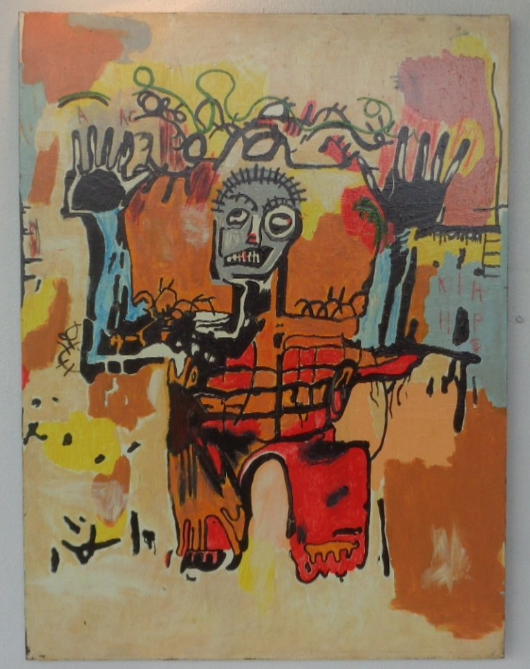 Original Street Art Painting on Canvas Basquiat N York