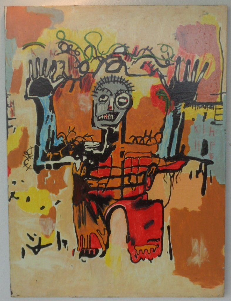 Original Street Art Painting on Canvas Basquiat N York - 2