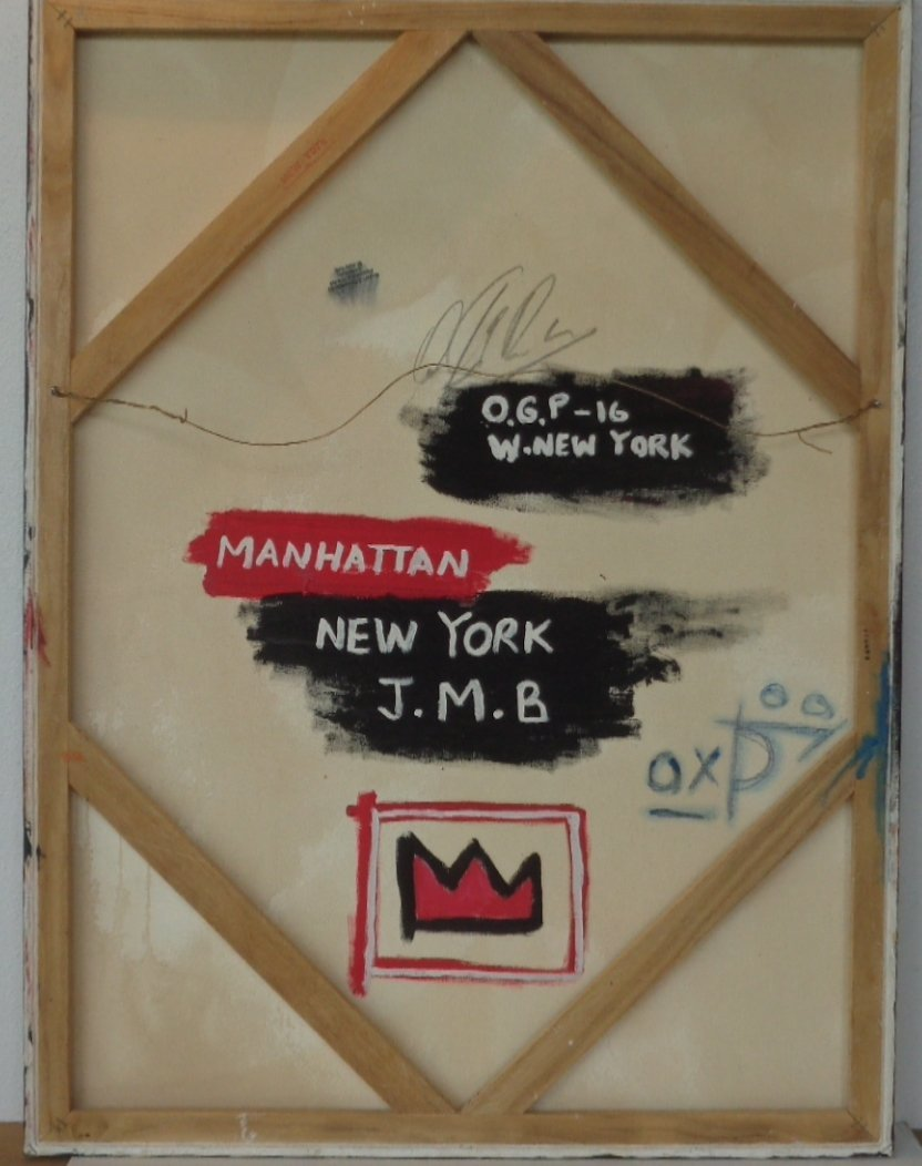 Original Street Art Painting on Canvas Basquiat N York - 3