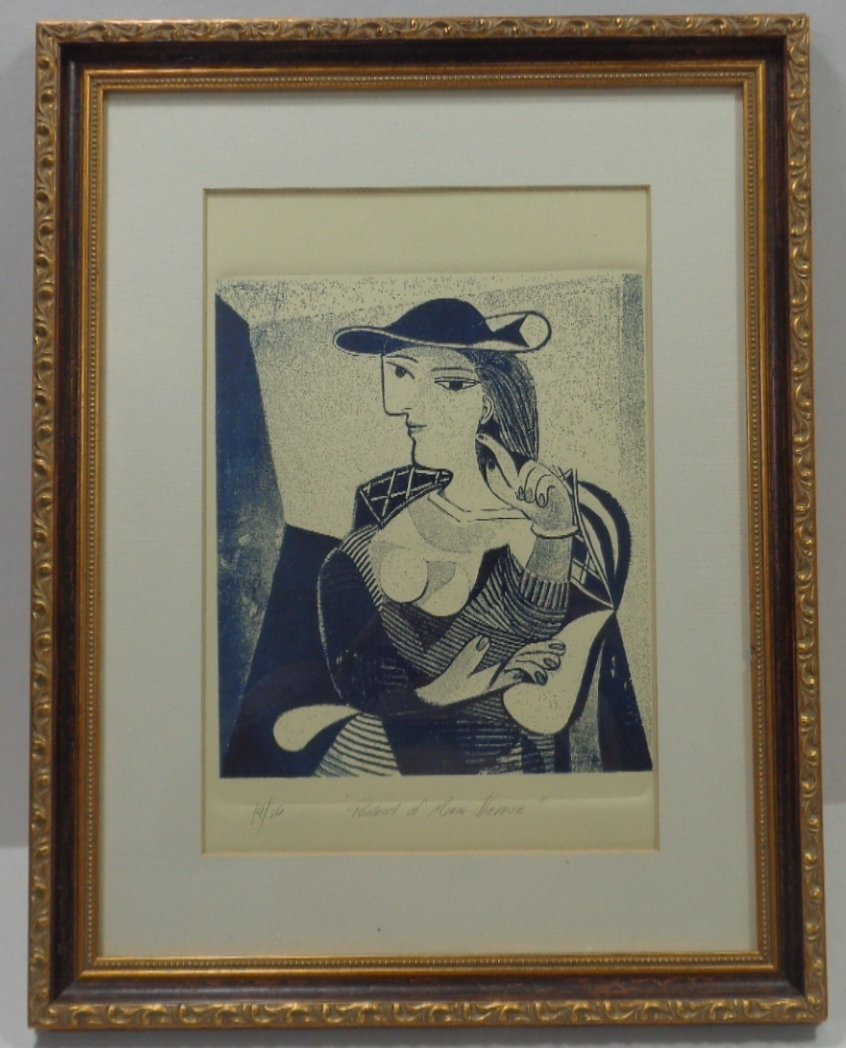 """Pablo Picasso """"Engraving Marie Therese"""" 19/26, Window"""