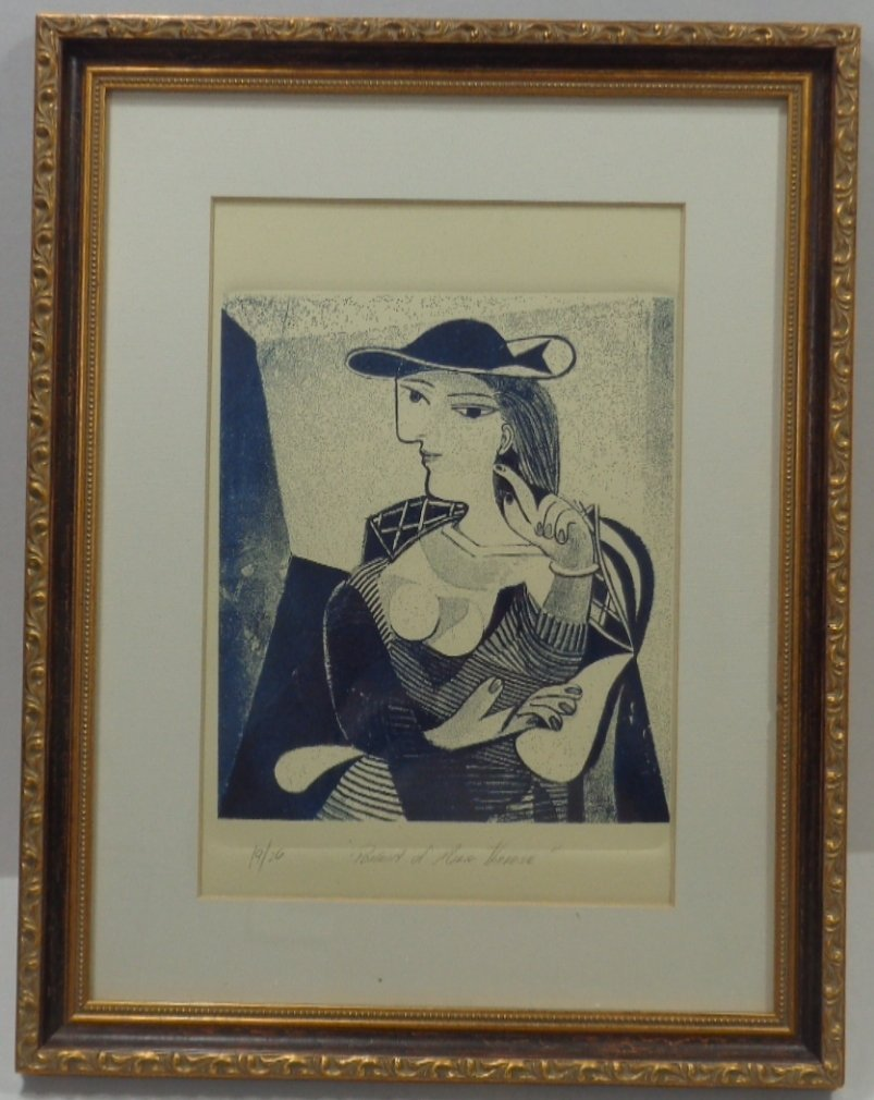 """Pablo Picasso """"Engraving Marie Therese"""" 19/26, Window - 3"""