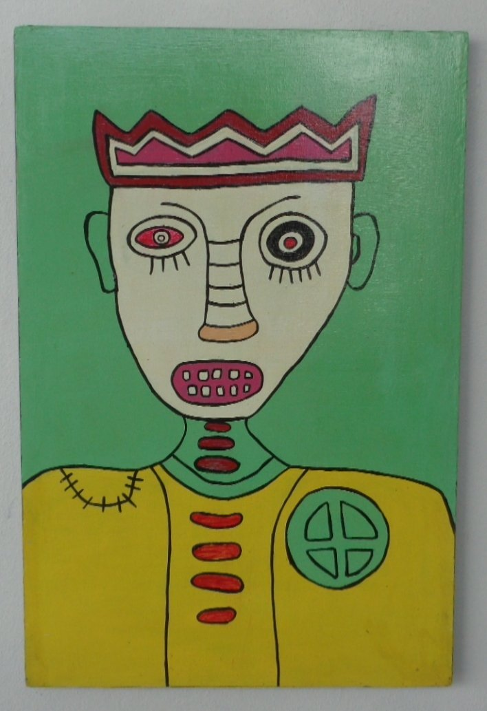 Original Painting on Wood Board New York Painting C/O