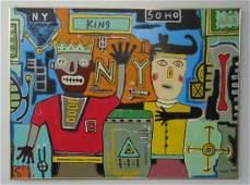 Large Contemporary Art- Basquiat - New York Painting