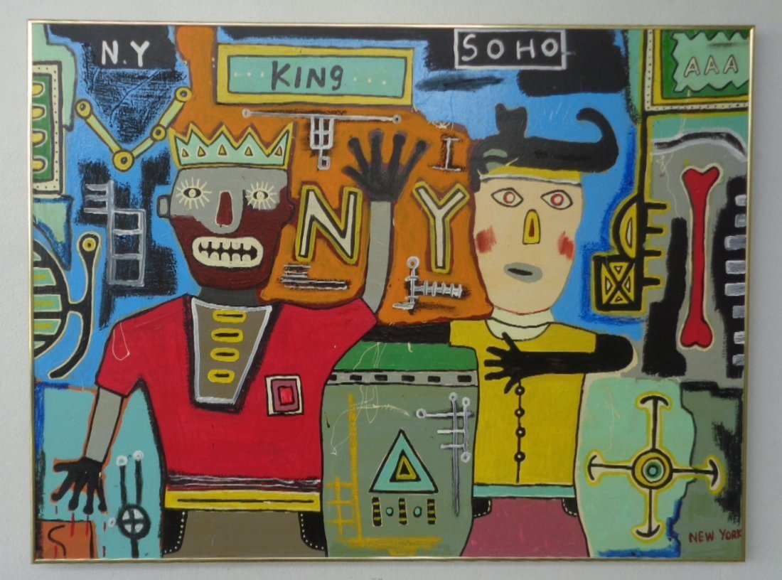 Large Contemporary Art- Basquiat - New York Painting