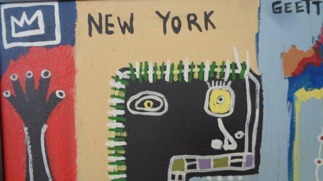 Original Hand Made Street Art Painting on Canvas - 2