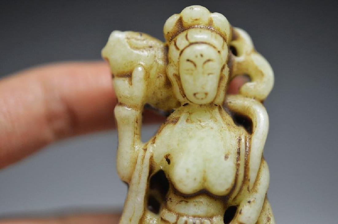 Antique Carved Jade nephrite carving pendant - 2