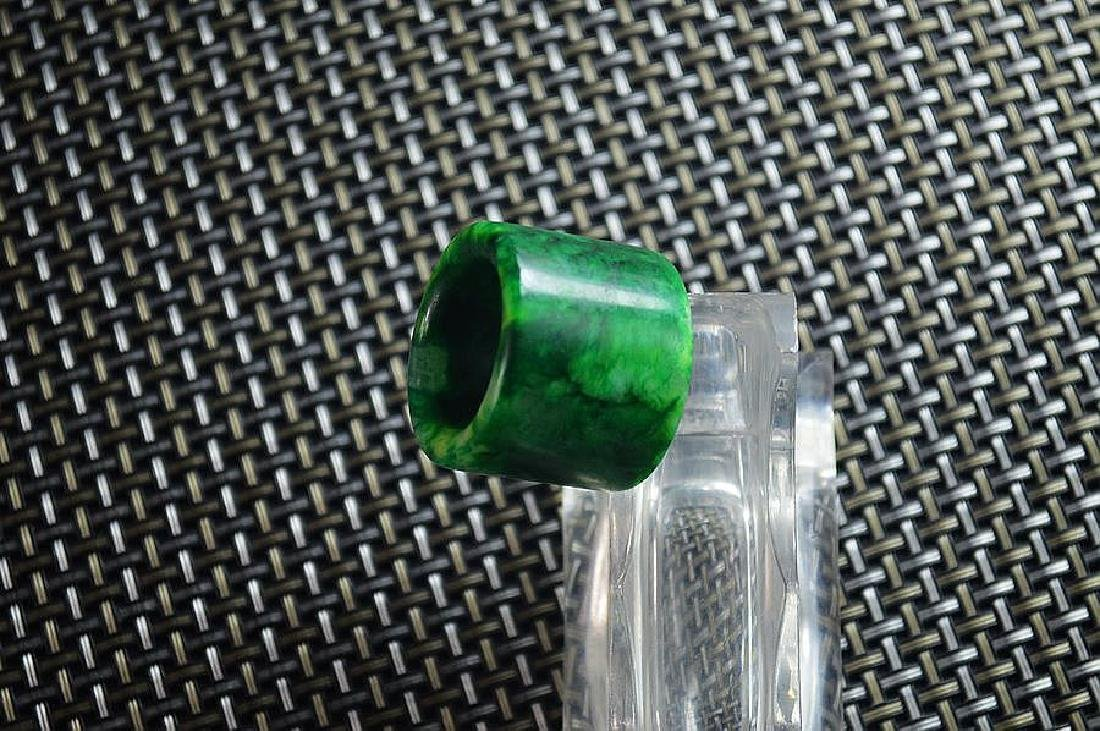 Jade carved BanZhi fingerstall