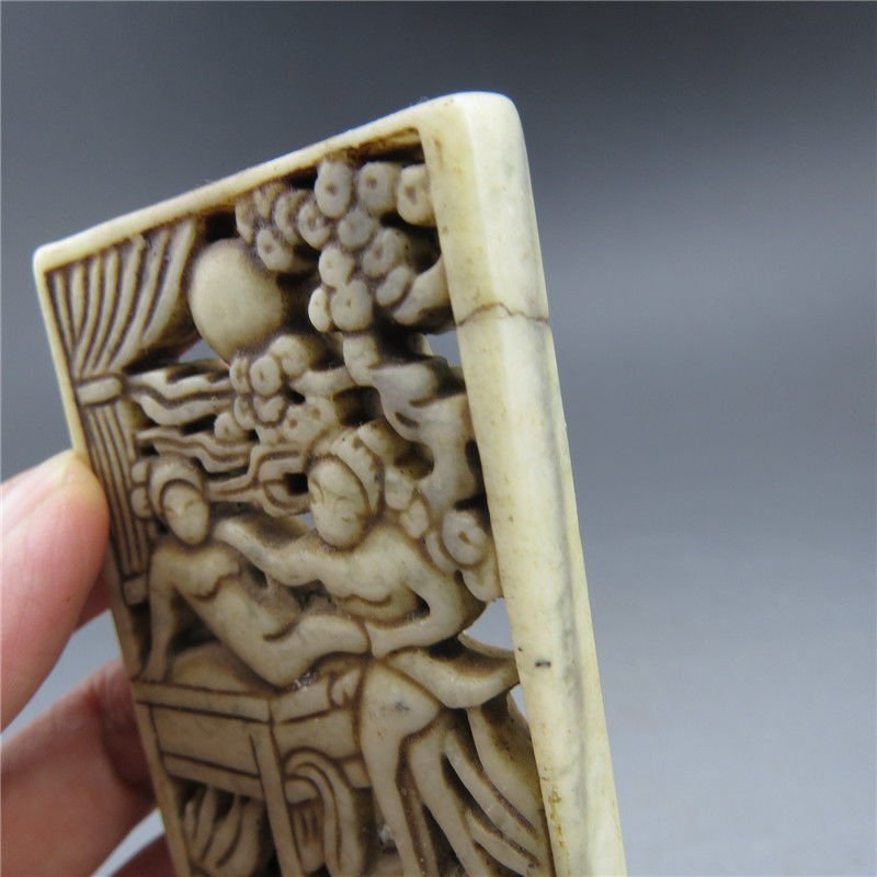Antique Chinese Jade Hand Carved  Plaque - 3