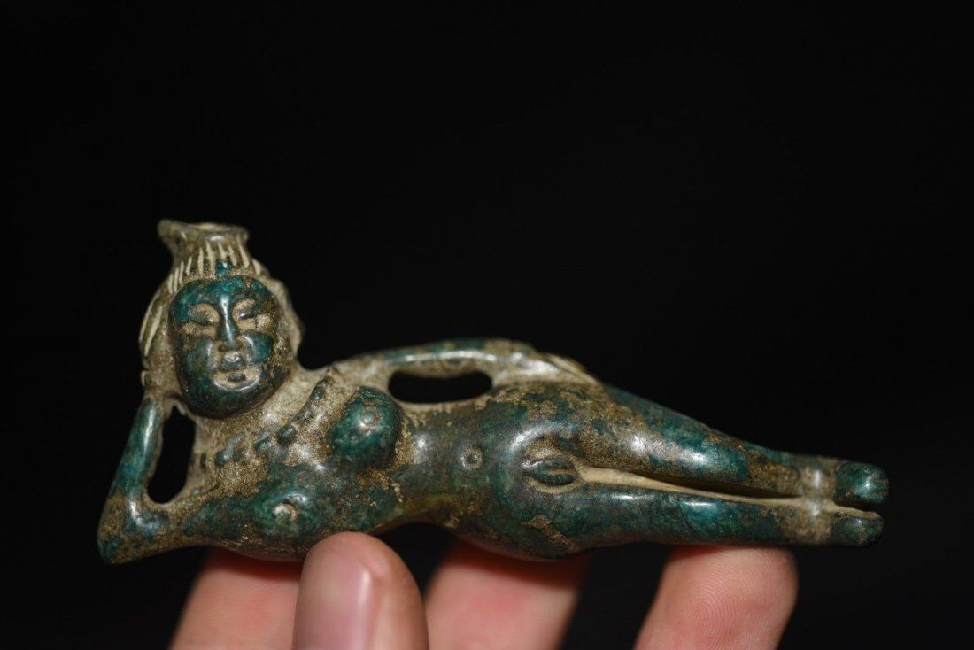 Chinese Hand Carved Female Figure Statue