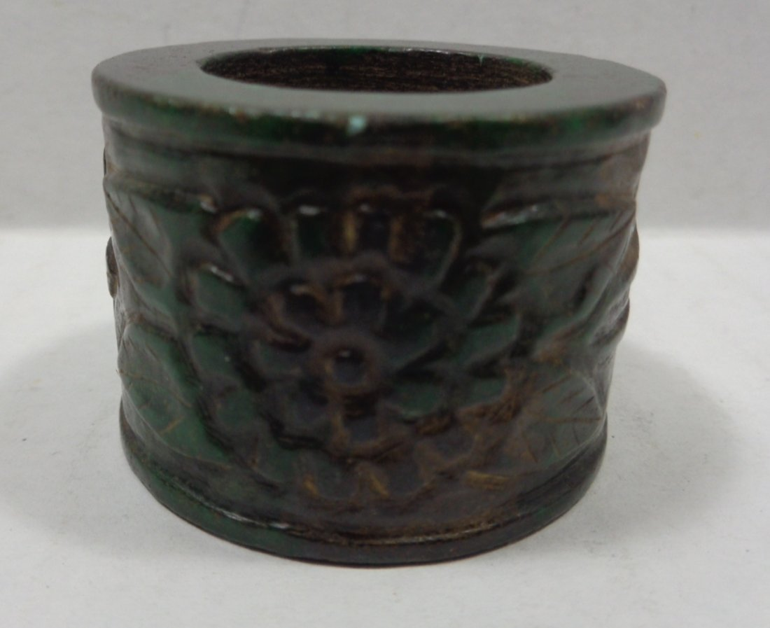 Antique Chinese Jade Hand Carved Ring - 2