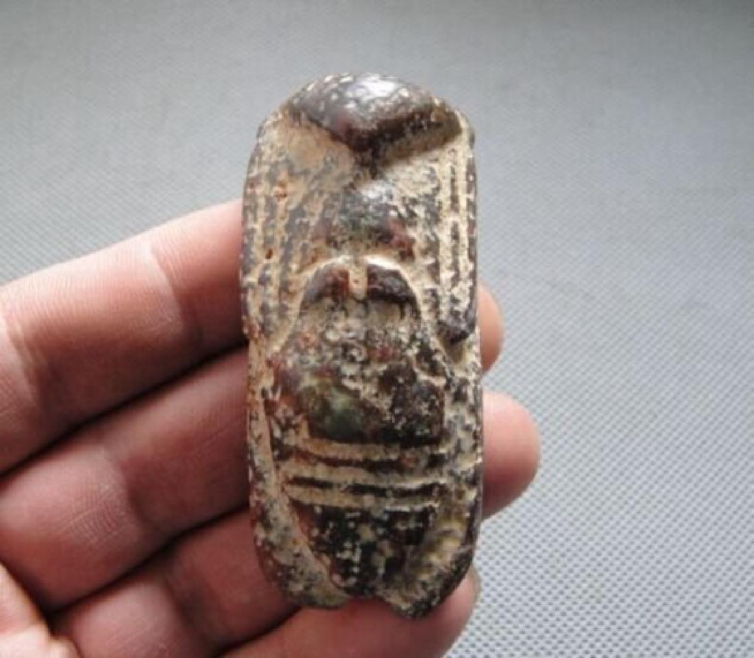 Chinese Hongshan Hand Carved Jade - 2