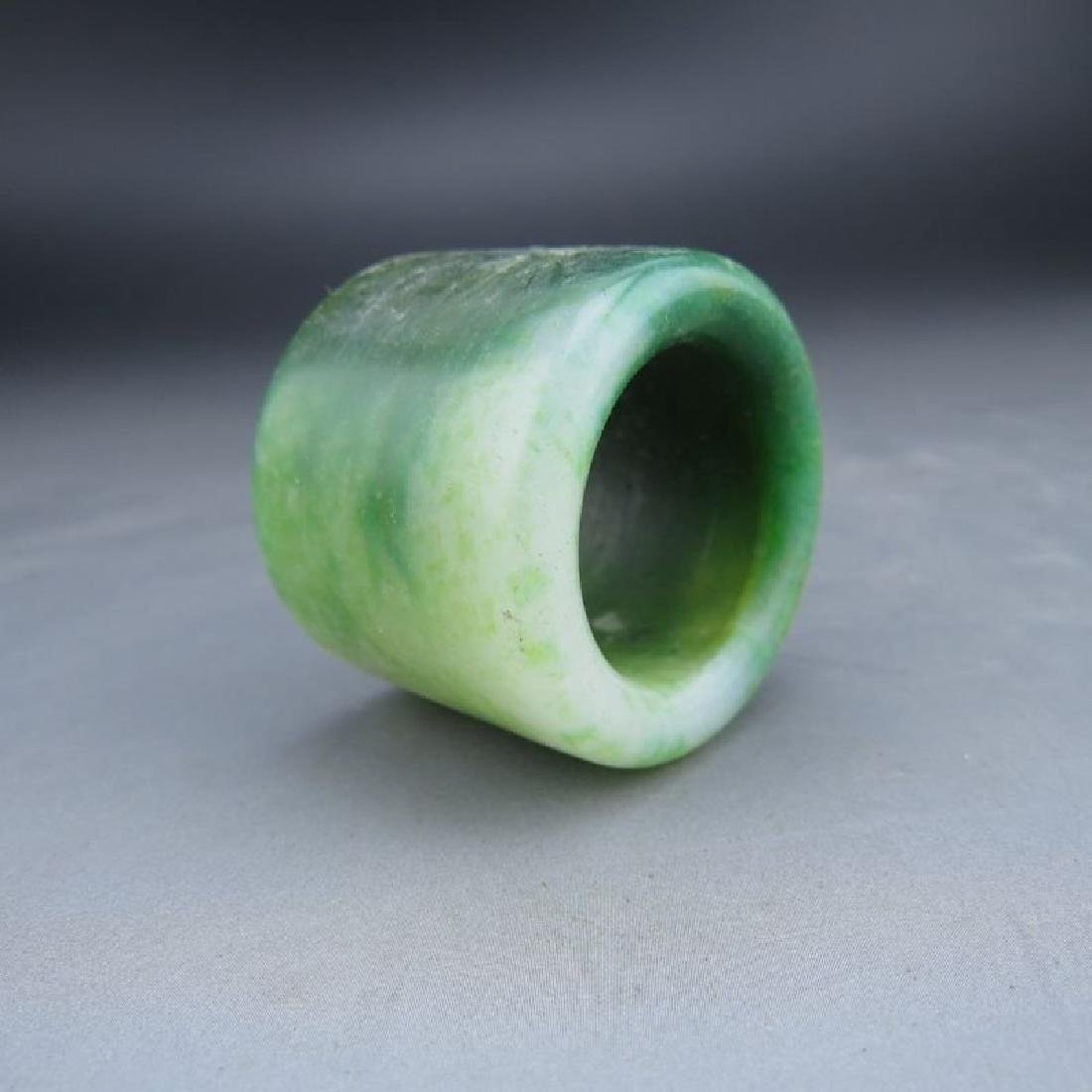 Chinese Jade Archer's Ring. Size inner 23mm.
