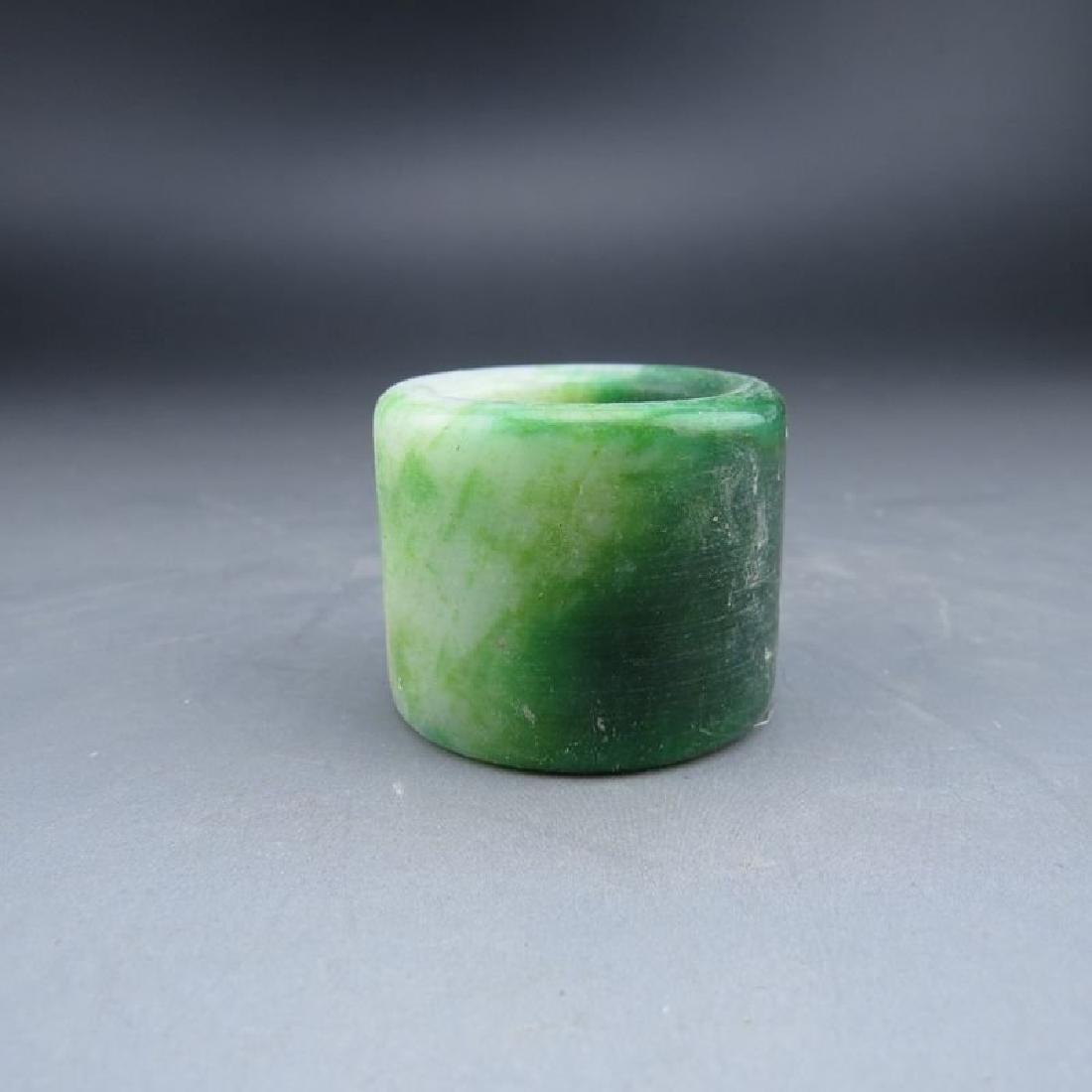 Chinese Jade Archer's Ring. Size inner 23mm. - 3