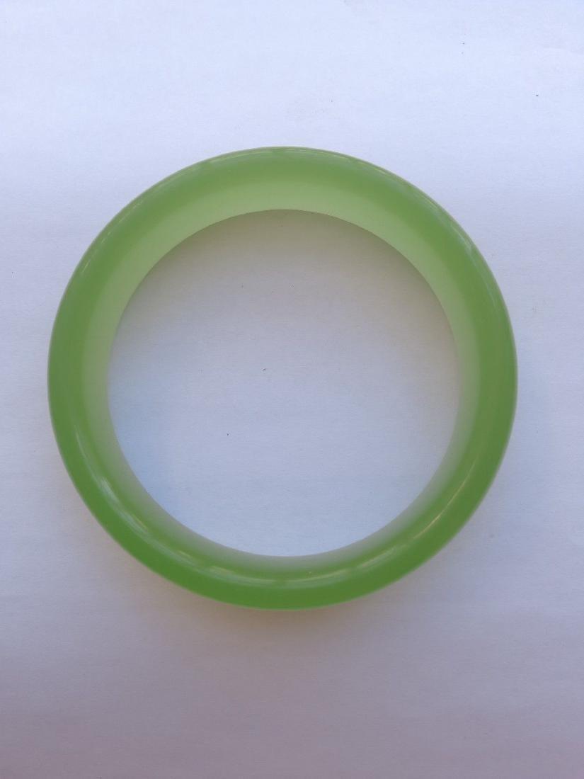 Natural Jade Bangle Bracelet 62 mm
