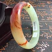 Natural Blood Jade Bangle Bracelet