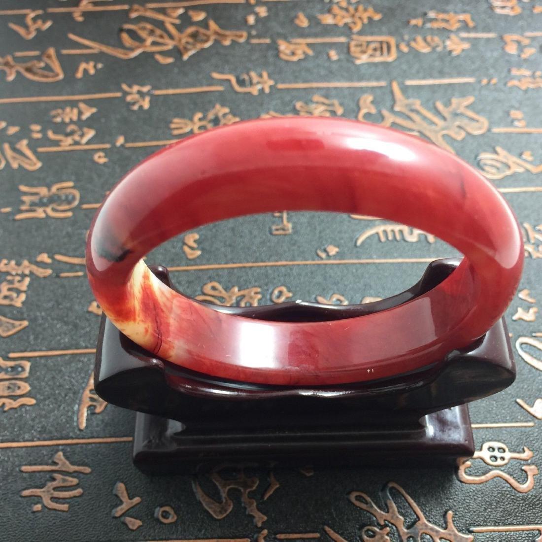 Natural Bangle Bracelet. inner: 60mm -outer: 72mm -Widt - 4