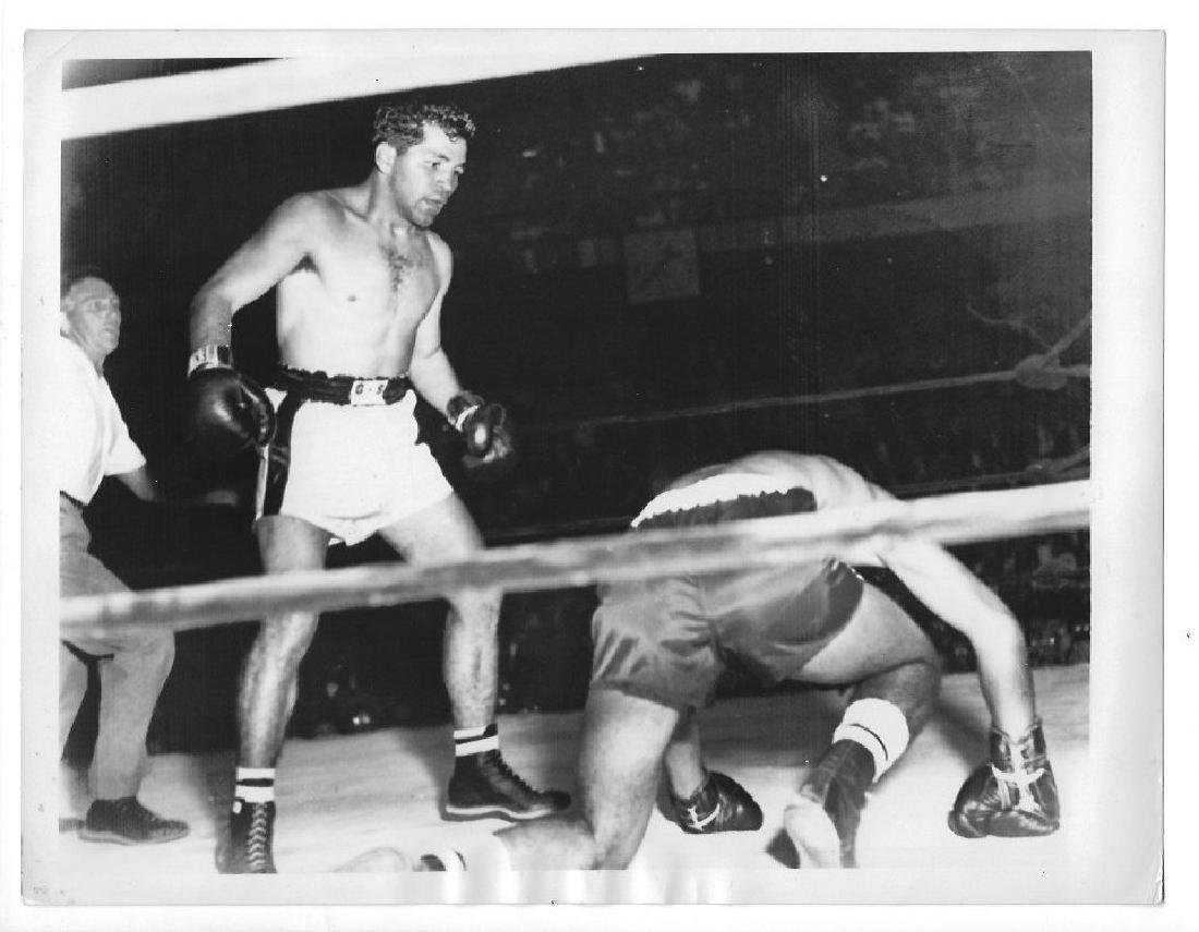 Original 1955 TONY DEMARCO- CHICO VEJAR - Boston Garden