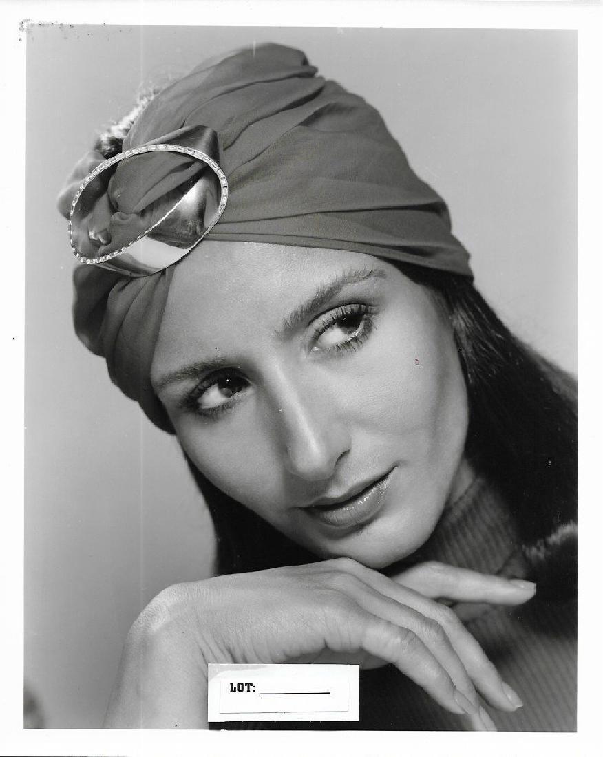 Vintage B & W 1960-1970. Jewelry Fashion Model. Photo