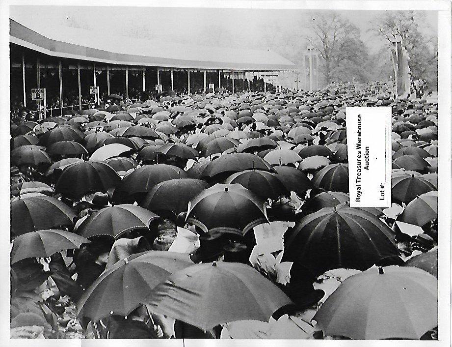 1937 Rare Buckingham Palace Sea Umbrella Photo Print
