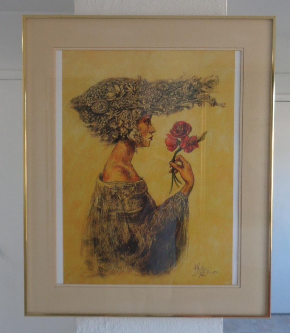 """Alicia de La Campa """"Camelias"""" Original Cuban"""